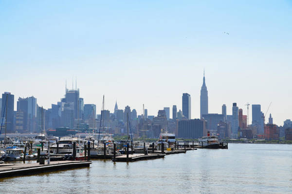 Wall Art - Photograph - The Manhattan Skyline From The Hudson River by Bill Cannon