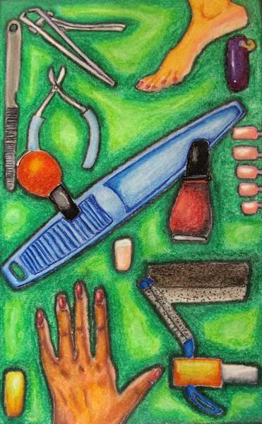 Wall Art - Drawing - The Manicurist by William Bryant
