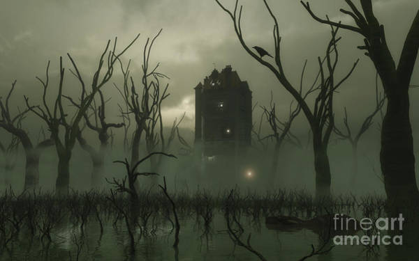 Fairy Pools Digital Art - The Manse In The Swamp by Fairy Fantasies