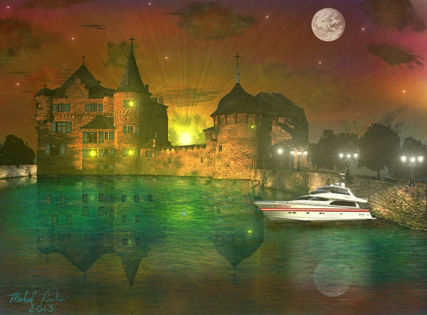 Ocean Wall Art - Digital Art - The Mansion by Michael Rucker