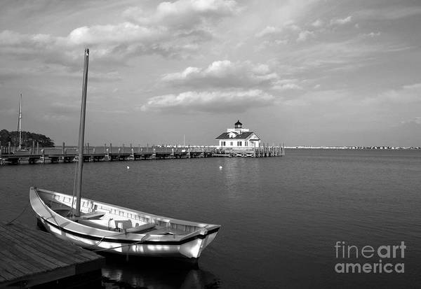 Roanoke Island Wall Art - Photograph - The Manteo Waterfront Bw by Mel Steinhauer