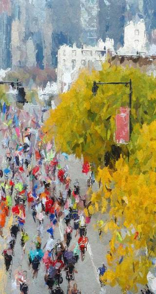 Wall Art - Painting - The Marathon by Steve K