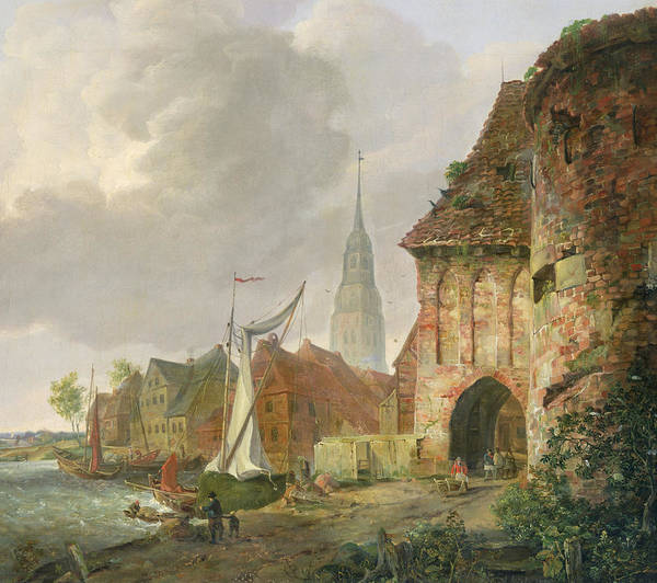 Gateway Painting - The March Gate In Buxtehude by Adolph Kiste