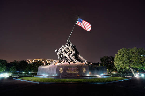 Photograph - The Marine Corps War Memorial by Mark Whitt