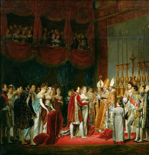 Bishop Photograph - The Marriage Of Napoleon I 1769-1821 And Marie Louise 1791-1847 Archduchess Of Austria, 2nd April by Georges Rouget