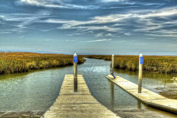 Alviso Photograph - The Marsh Preparing To Launch by SC Heffner