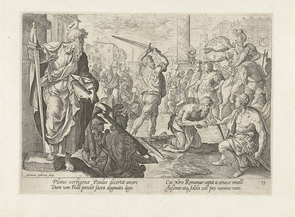 Suffering Drawing - The Martyrdom Of St by Hendrick Goltzius And Maerten De Vos