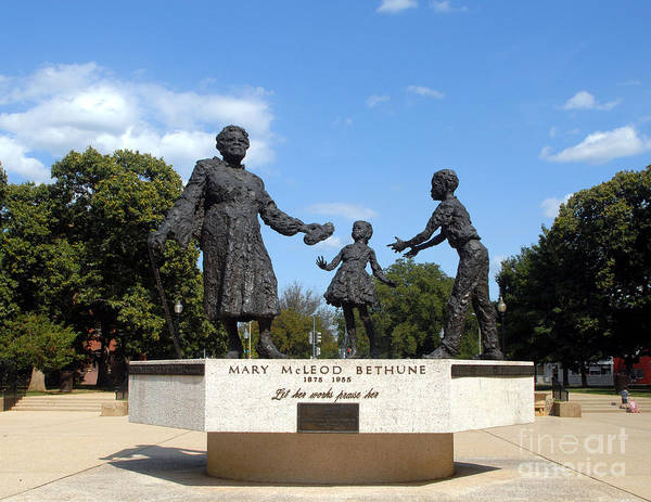 Photograph - The Mary Mcleod Bethune Memorial by Walter Neal
