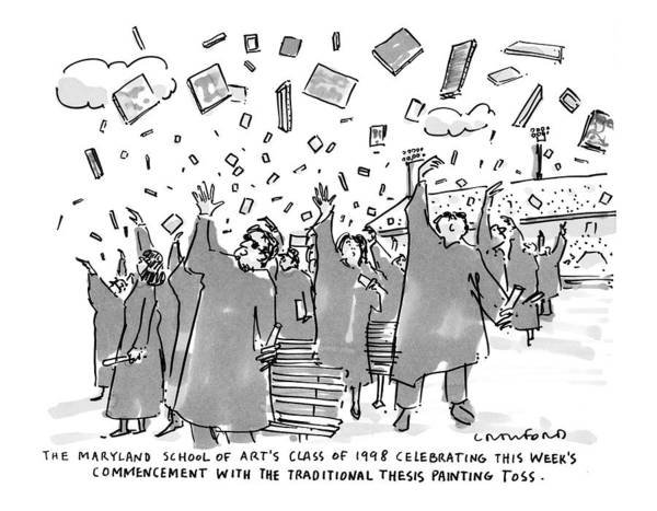 Graduation Drawing - The Maryland School Of Art's Class Of 1998 by Michael Crawford