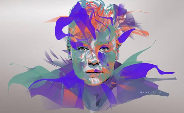 Hana Digital Art - The Mask by Hana Dutina