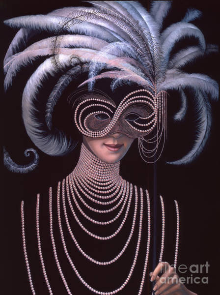 White Feathers Painting - The Mask by Jane Whiting Chrzanoska