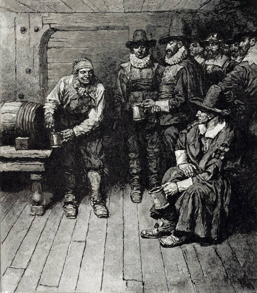 Brandywine Wall Art - Photograph - The Master Caused Us To Have Some Beere, From Harpers Magazine, 1883 Litho by Howard Pyle