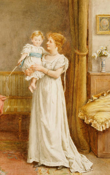 Baby Furniture Wall Art - Painting - The Master Of The House by George Goodwin Kilburne
