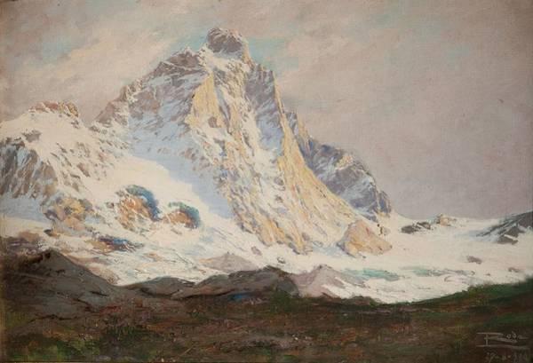 Swiss Alps Wall Art - Painting - The Matterhorn, 1910 by Leonardo Roda