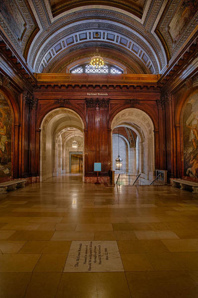 Photograph - The Mcgraw Rotunda At The New York Public Library by Susan Candelario