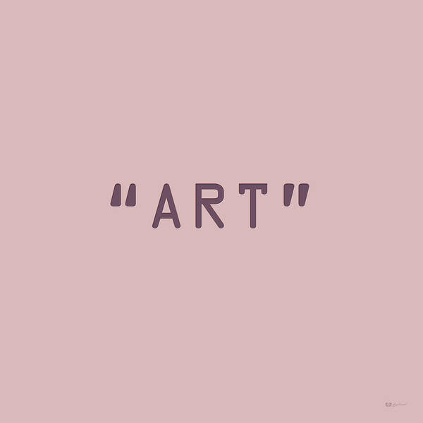 Digital Art - The Meaning Of Art - Quotation Marks by Serge Averbukh