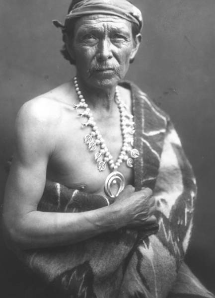 Headband Photograph - The Medicine Man by William J Carpenter