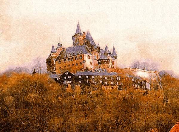 Photograph - The Medieval Castle Of Wernigerode by Susan Maxwell Schmidt