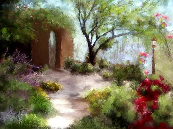 Adobe Painting - The Meditative Garden  by Colleen Taylor