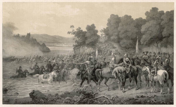 Wall Art - Drawing - The Meeting Of The Protestant  Leaders by Mary Evans Picture Library