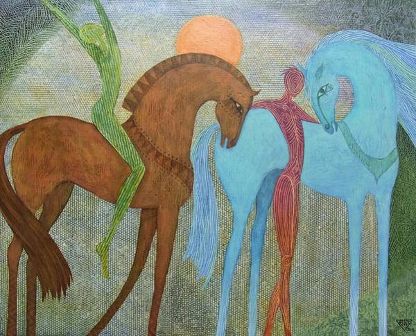 Wall Art - Painting - The Meeting Place by Jennifer Baird