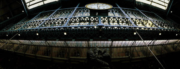 Wall Art - Photograph - The Meeting Place Statue At St Pancras by Panoramic Images