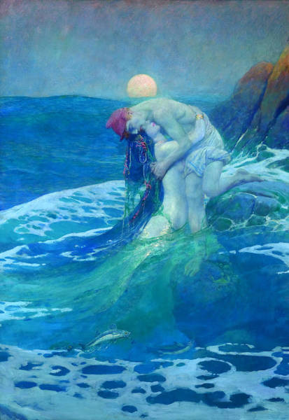 Art For Sale Online Painting - The Mermaid by Howard Pyle