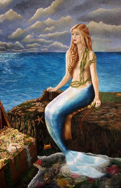 Plaits Painting - The Mermaid's Secret Rockpool by Bonnie Leeman