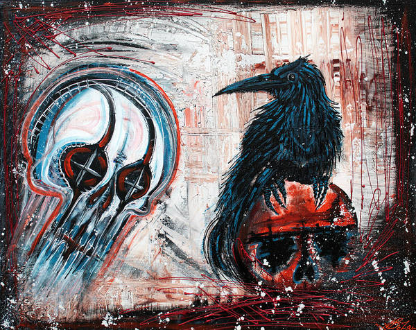 Wall Art - Painting - The Messenger by Laura Barbosa