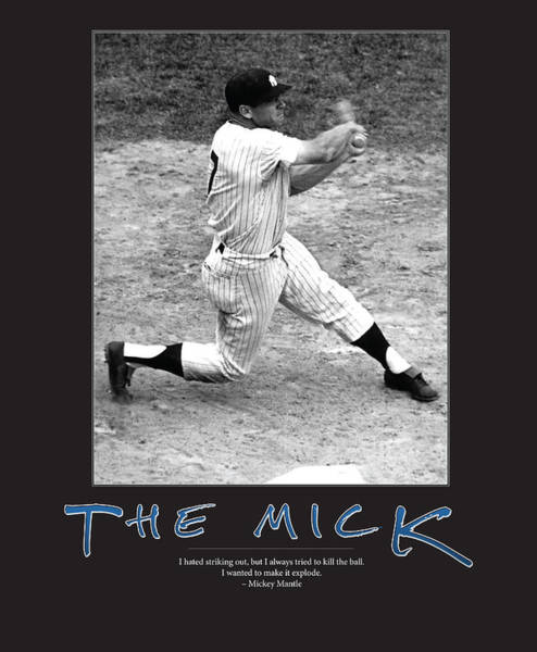 Mickey Mantle Wall Art - Photograph - The Mick Mickey Mantle by Retro Images Archive