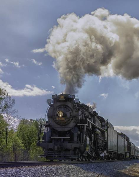 Photograph - The Mighty 765 Steam Engine by Richard Kopchock