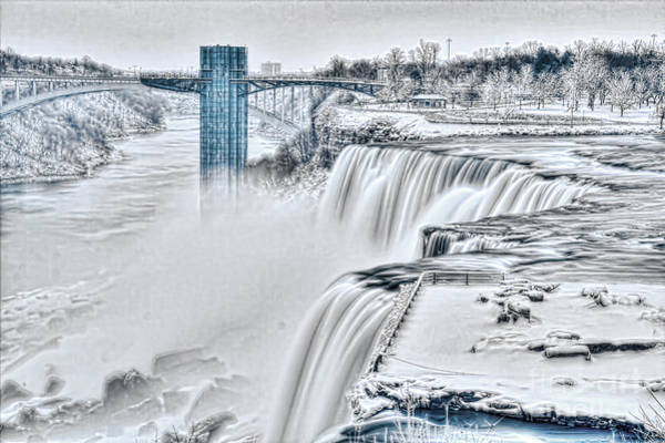 Photograph - The Mighty Falls In The Winter by Jim Lepard