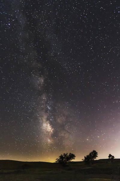 Photograph - The Milky Way And Dark Kansas Skies by Scott Bean
