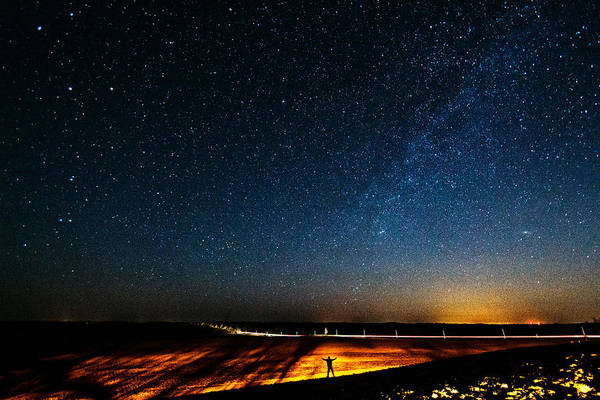 Wall Art - Photograph - The Milky Way And My Shadow by Matt Molloy