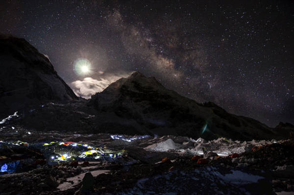 Khumbu Wall Art - Photograph - The Milky Way Rises Above The Flanks by Jake Norton