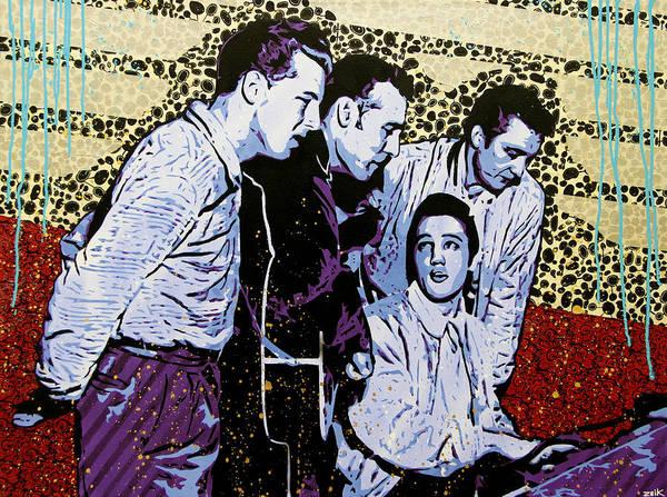 Johnny Cash Painting - The Million Dollar Quartet  by Bobby Zeik