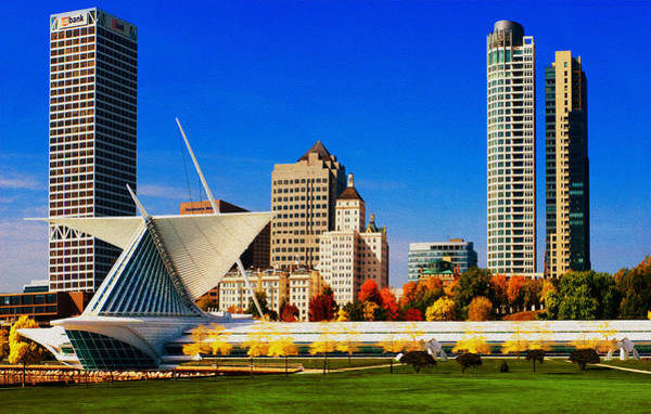 Tall Buildings Painting - The Milwaukee Art Museum by Jack Zulli