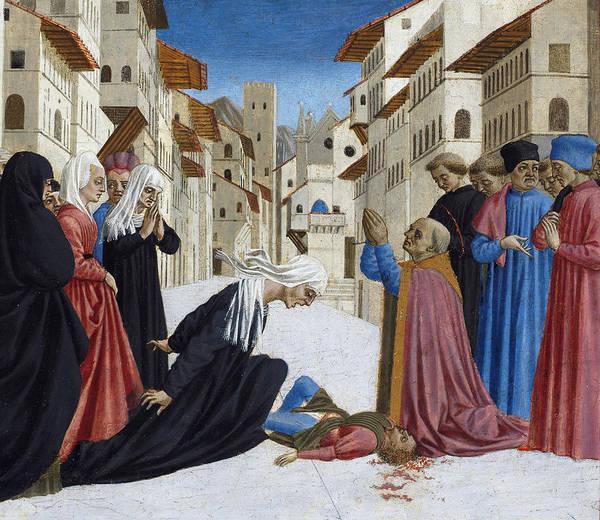 Restore Wall Art - Painting - The Miracle Of St. Zenobius, 1442-48 by Domenico Veneziano