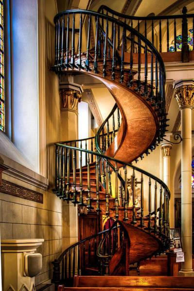 Loretto Chapel Photograph - The Miraculous Staircase by Len Saltiel