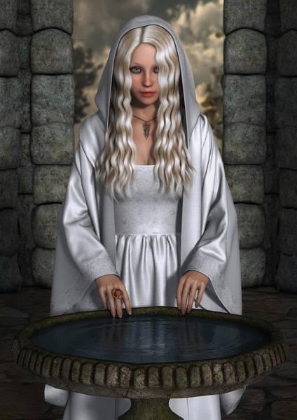 Cloak Digital Art - The Mirror by Rachel Dudley