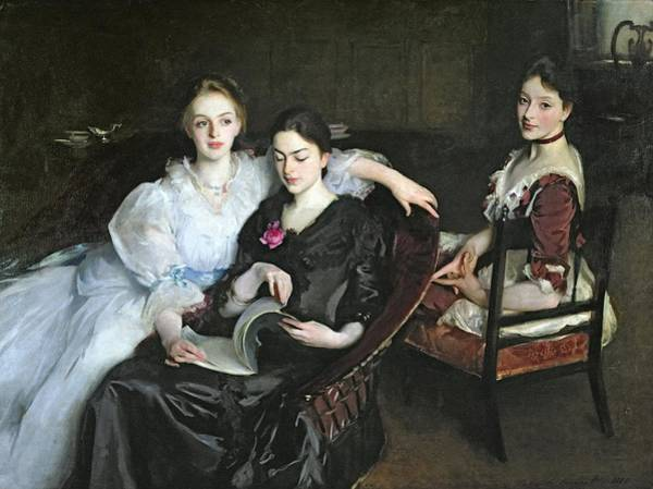 Three Sisters Wall Art - Painting - The Misses Vickers, 1884 by John Singer Sargent
