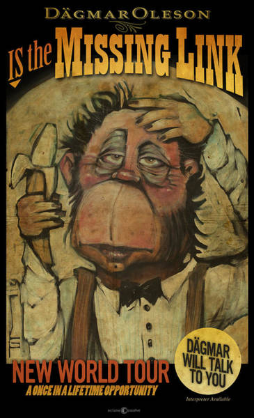 Painting - The Missing Link Poster by Tim Nyberg