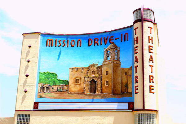 Wall Art - Photograph - The Mission Drive-in Theatre by Charles Rogers