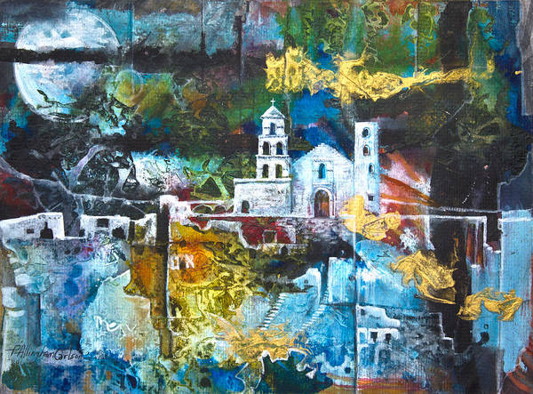 Native Mixed Media - The Mission by Patricia Allingham Carlson