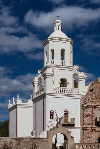 Photograph - The Mission Tower At San Xavier by Ed Gleichman