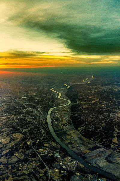 Photograph - The Missouri River At Sunset by Robert FERD Frank