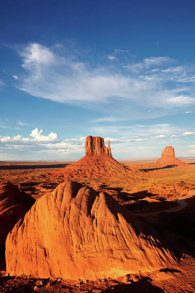The Mitten Photograph - The Mittens, Monument Valley Tribal Park by Marco Brivio