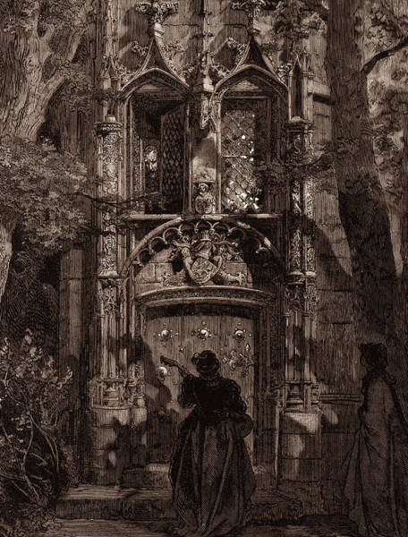 Dor Drawing - The Mock Serenade, By Gustave DorÉ. Dore by Litz Collection