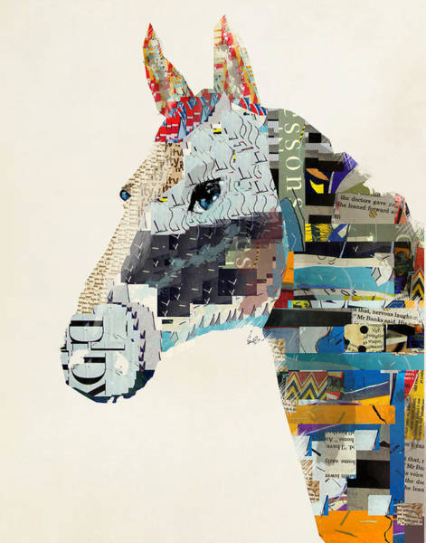 Portraits Of Animals Wall Art - Painting - The Mod Horse by Bri Buckley