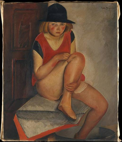 Central America Painting - The Model by Boris Grigoriev